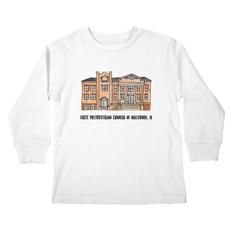 First presbyterian church Kids Longsleeve T-Shirt by Jodilynn Doodles's Artist Shop