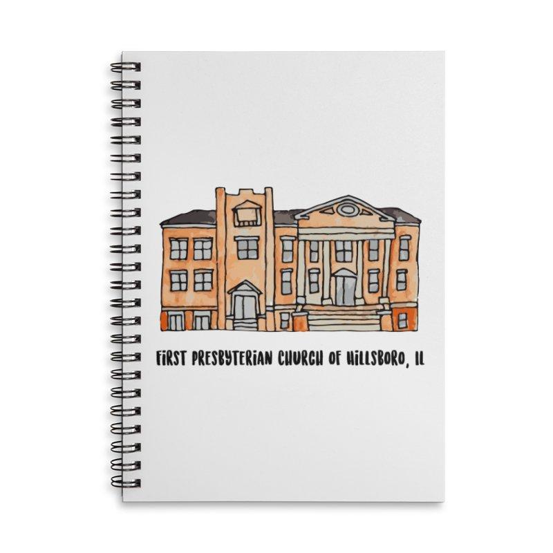 First presbyterian church Accessories Lined Spiral Notebook by Jodilynn Doodles's Artist Shop