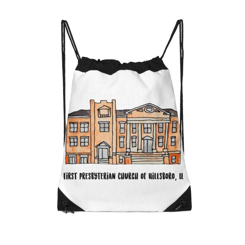 First presbyterian church Accessories Drawstring Bag Bag by Jodilynn Doodles's Artist Shop