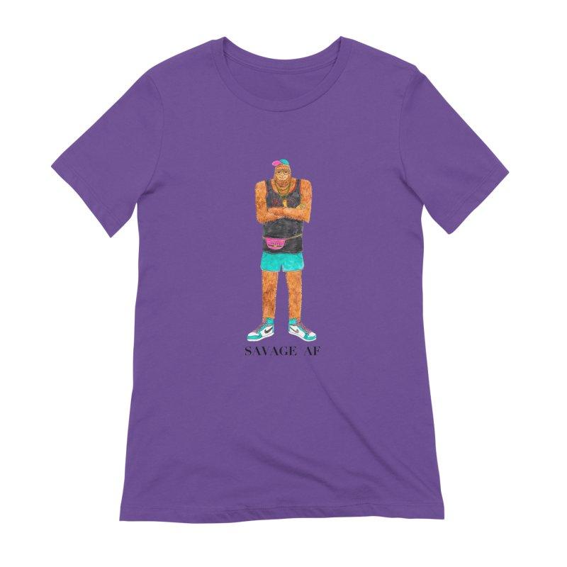 Savage Bigfoot Women's Extra Soft T-Shirt by Jodilynn Doodles's Artist Shop