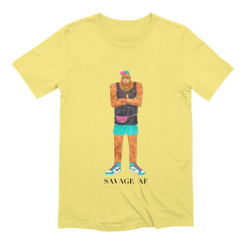 Savage Bigfoot Men's Extra Soft T-Shirt by Jodilynn Doodles's Artist Shop