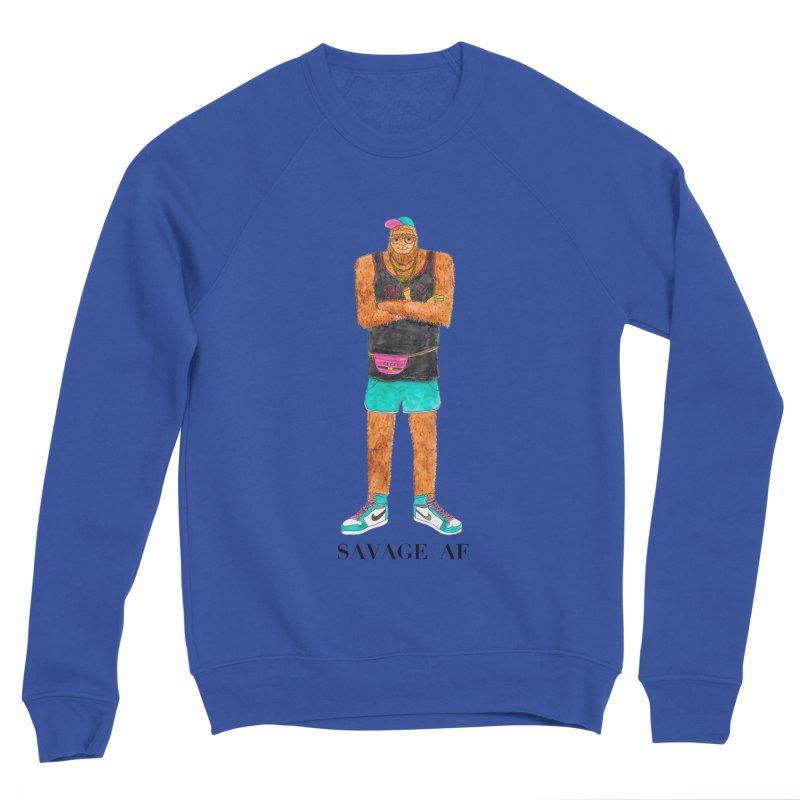 Savage Bigfoot Men's Sponge Fleece Sweatshirt by Jodilynn Doodles's Artist Shop