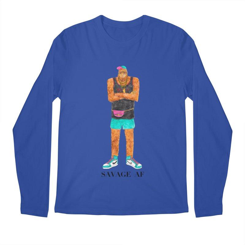 Savage Bigfoot Men's Regular Longsleeve T-Shirt by Jodilynn Doodles's Artist Shop