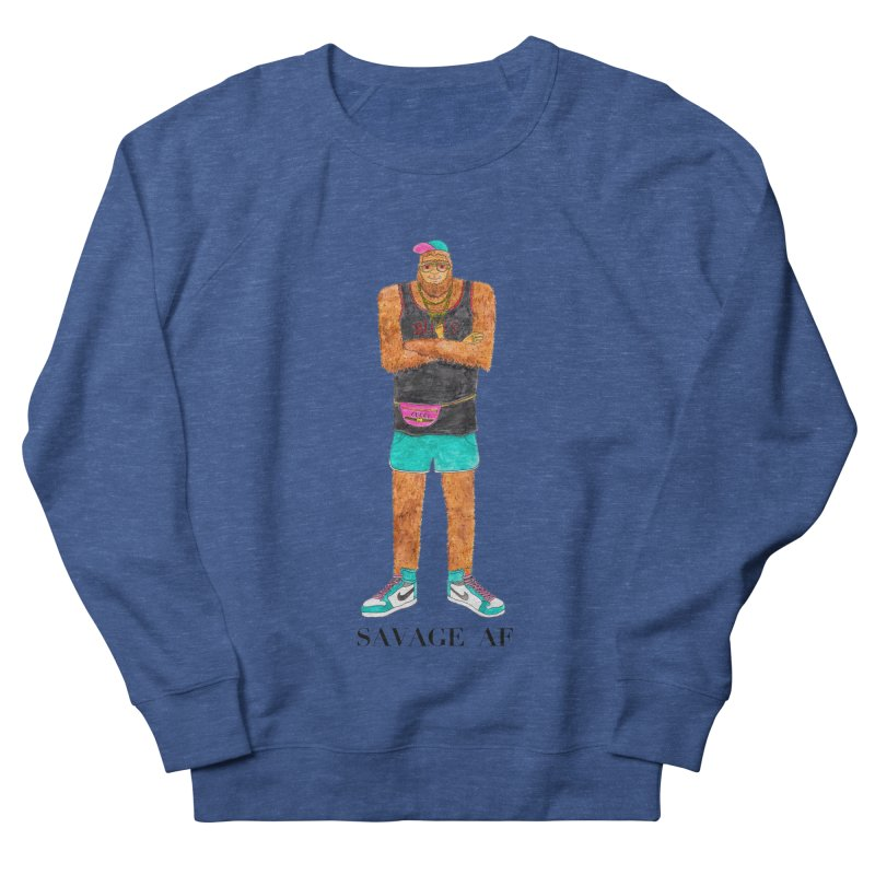 Savage Bigfoot Women's French Terry Sweatshirt by Jodilynn Doodles's Artist Shop