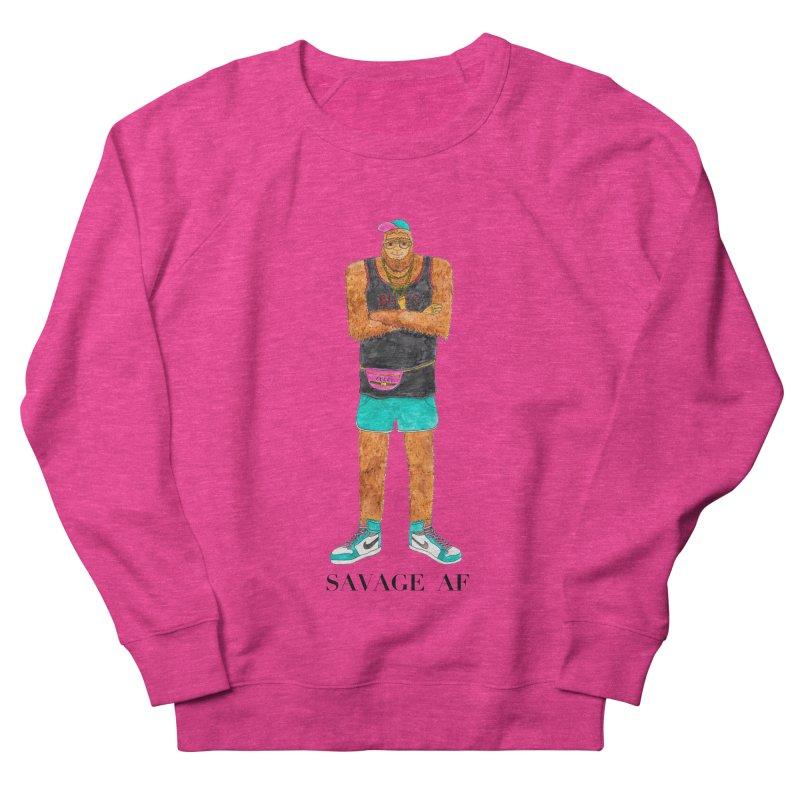Savage Bigfoot Men's French Terry Sweatshirt by Jodilynn Doodles's Artist Shop