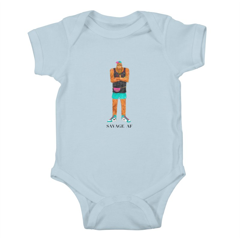 Savage Bigfoot Kids Baby Bodysuit by Jodilynn Doodles's Artist Shop
