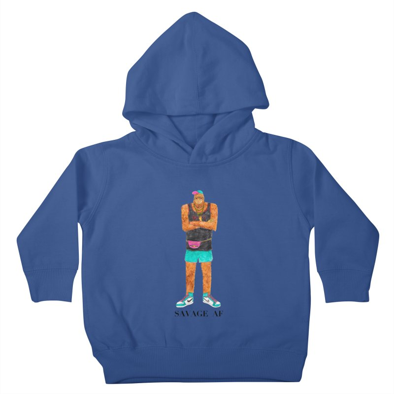 Savage Bigfoot Kids Toddler Pullover Hoody by Jodilynn Doodles's Artist Shop