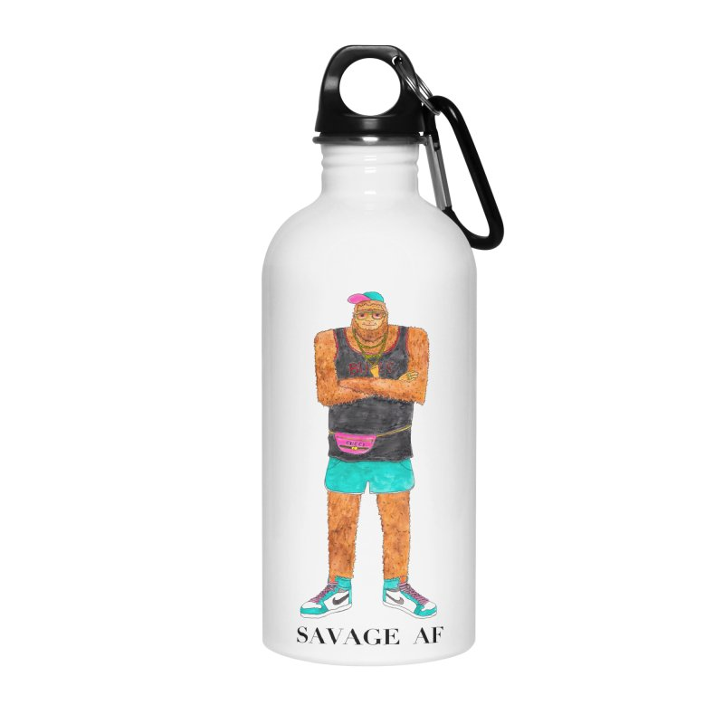 Savage Bigfoot Accessories Water Bottle by Jodilynn Doodles's Artist Shop