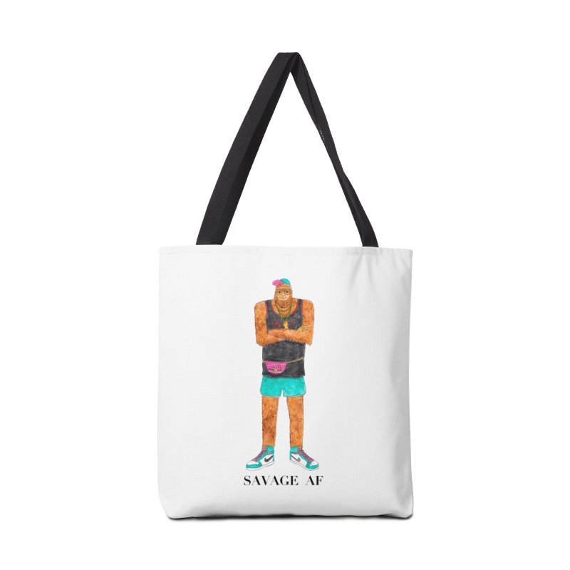 Savage Bigfoot Accessories Tote Bag Bag by Jodilynn Doodles's Artist Shop