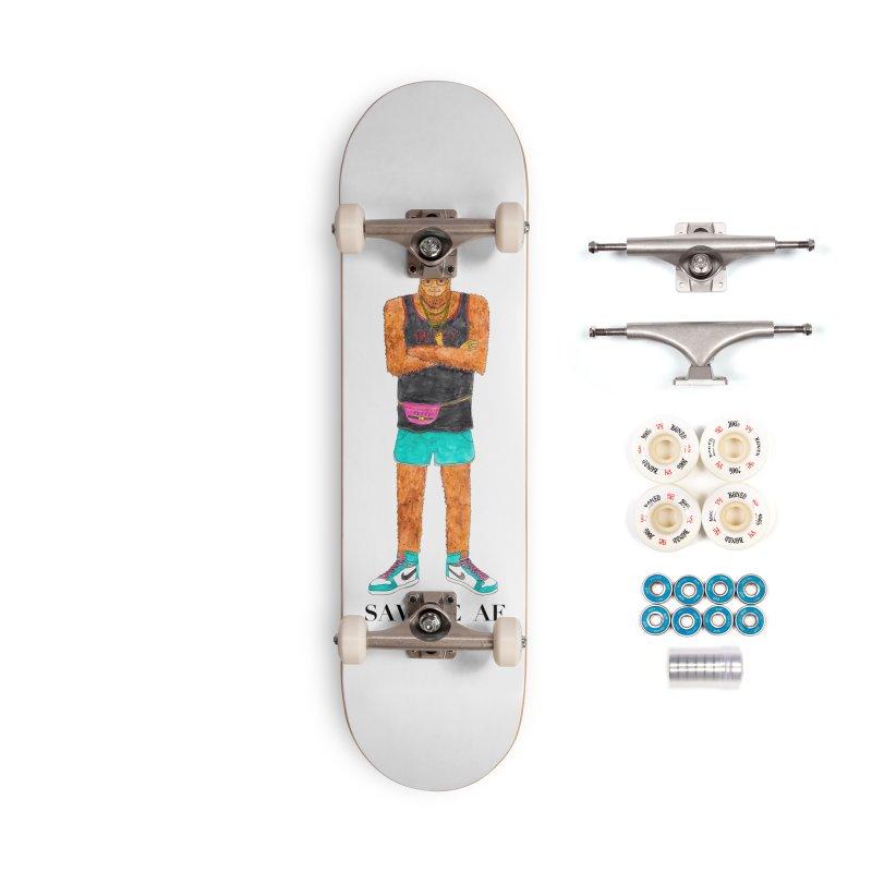 Savage Bigfoot Accessories Complete - Premium Skateboard by Jodilynn Doodles's Artist Shop