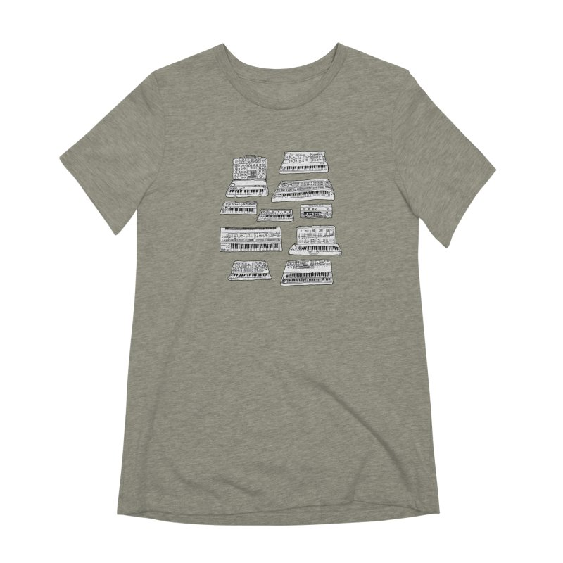 Synthesizers Women's Extra Soft T-Shirt by Jodilynn Doodles's Artist Shop