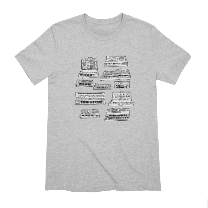 Synthesizers Men's Extra Soft T-Shirt by Jodilynn Doodles's Artist Shop