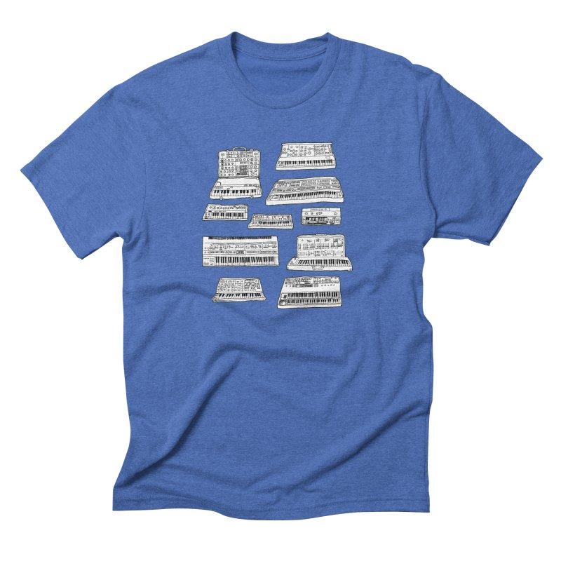 Synthesizers Men's Triblend T-Shirt by Jodilynn Doodles's Artist Shop