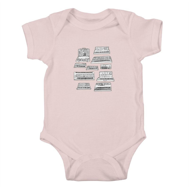 Synthesizers Kids Baby Bodysuit by Jodilynn Doodles's Artist Shop