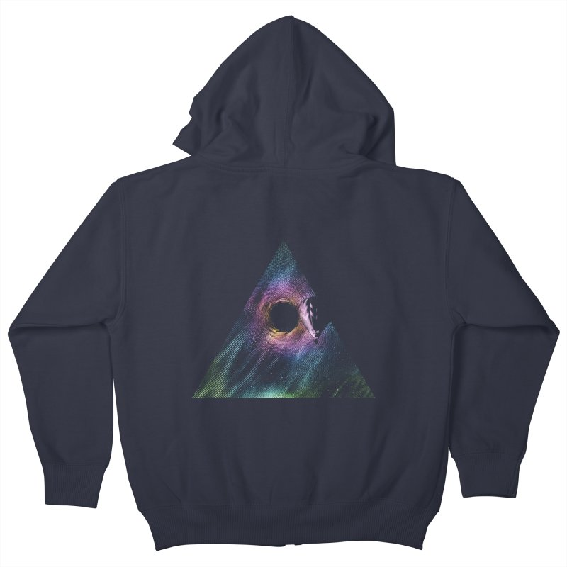 Aurora Kids Zip-Up Hoody by His Artwork's Shop