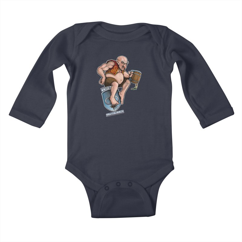 Cold Iron Giant Kids Baby Longsleeve Bodysuit by Joe Abboreno's Artist Shop