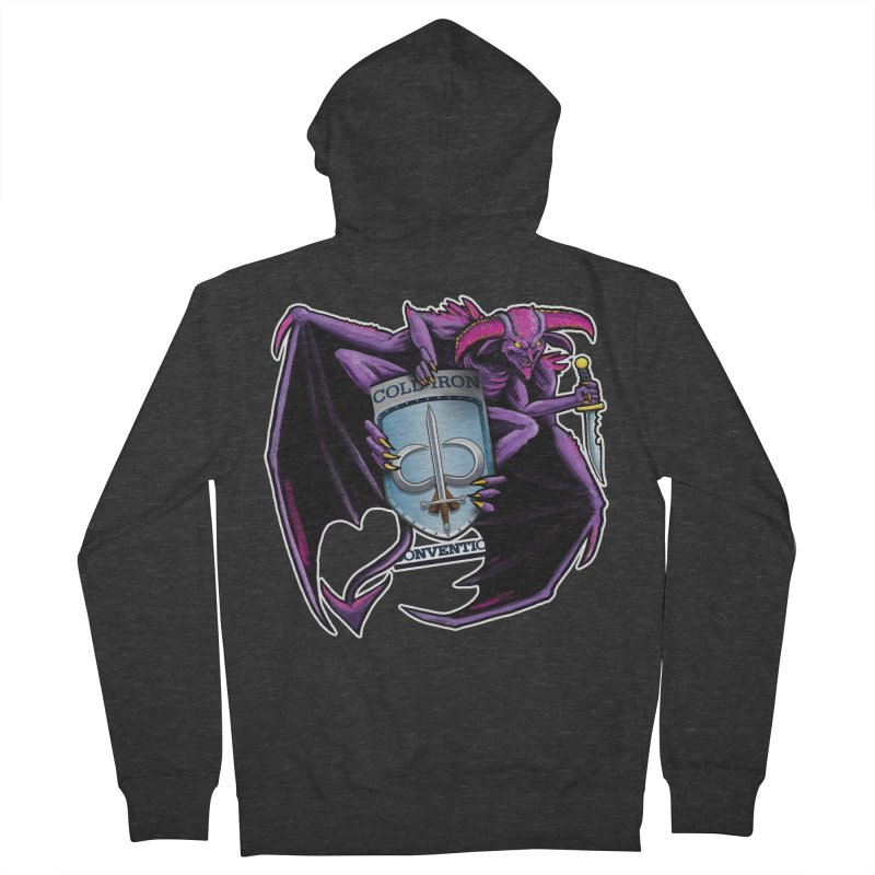 Cold Iron Imp Women's French Terry Zip-Up Hoody by Joe Abboreno's Artist Shop