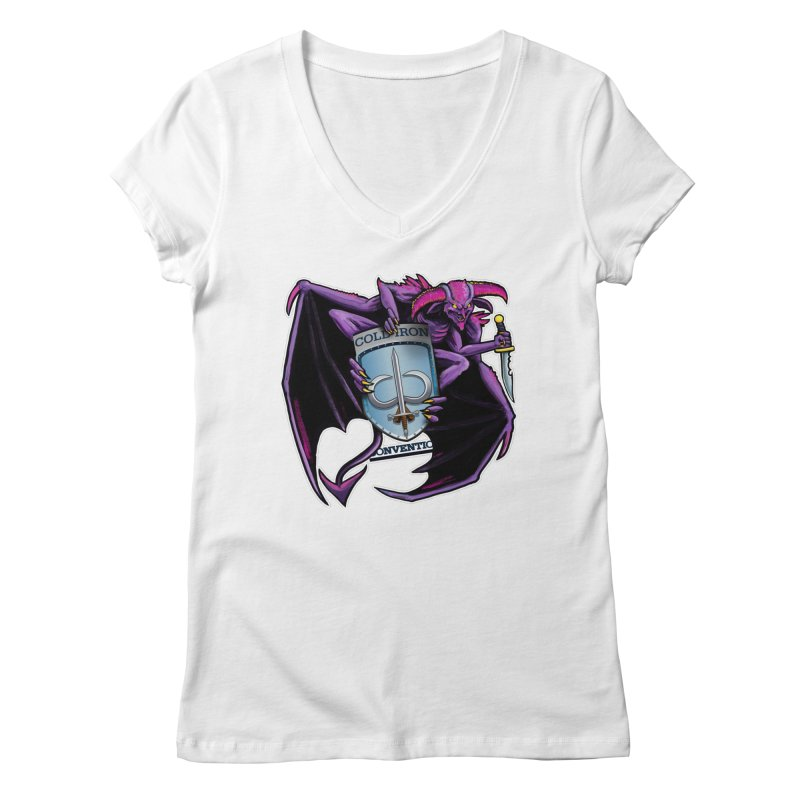 Cold Iron Imp Women's Regular V-Neck by Joe Abboreno's Artist Shop