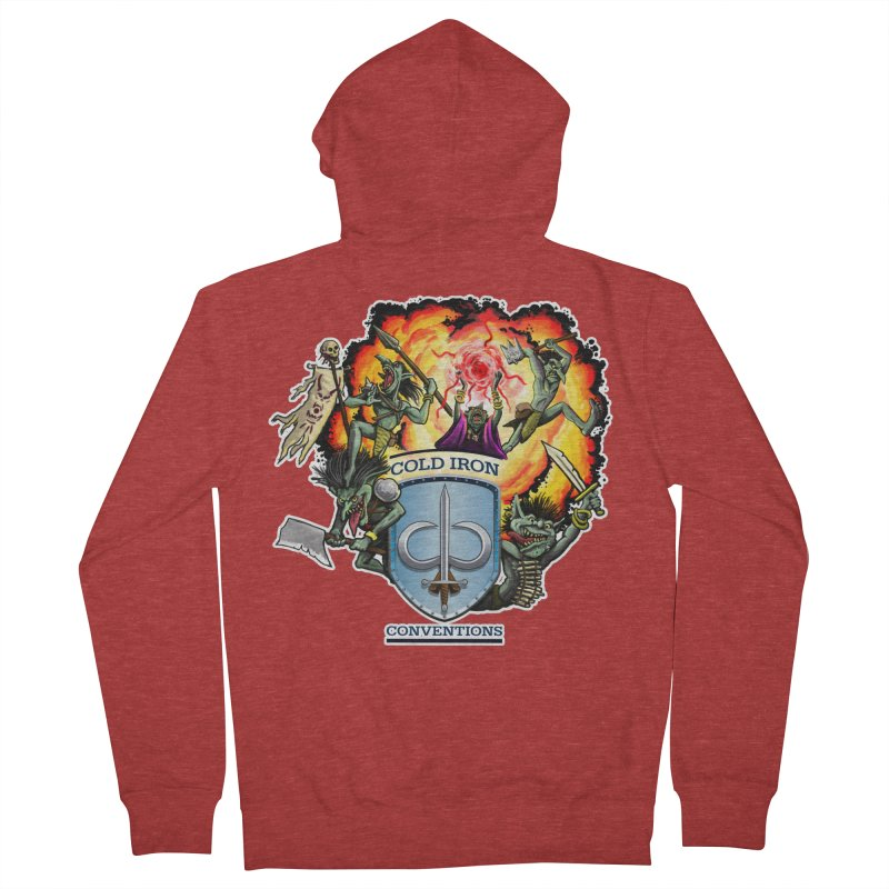 Cold Iron Goblins Men's French Terry Zip-Up Hoody by Joe Abboreno's Artist Shop