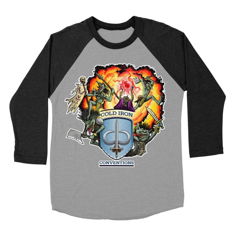 Cold Iron Goblins Men's Baseball Triblend Longsleeve T-Shirt by Joe Abboreno's Artist Shop