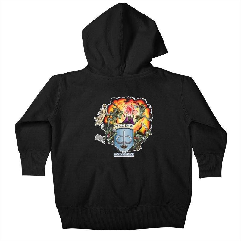 Cold Iron Goblins Kids Baby Zip-Up Hoody by Joe Abboreno's Artist Shop