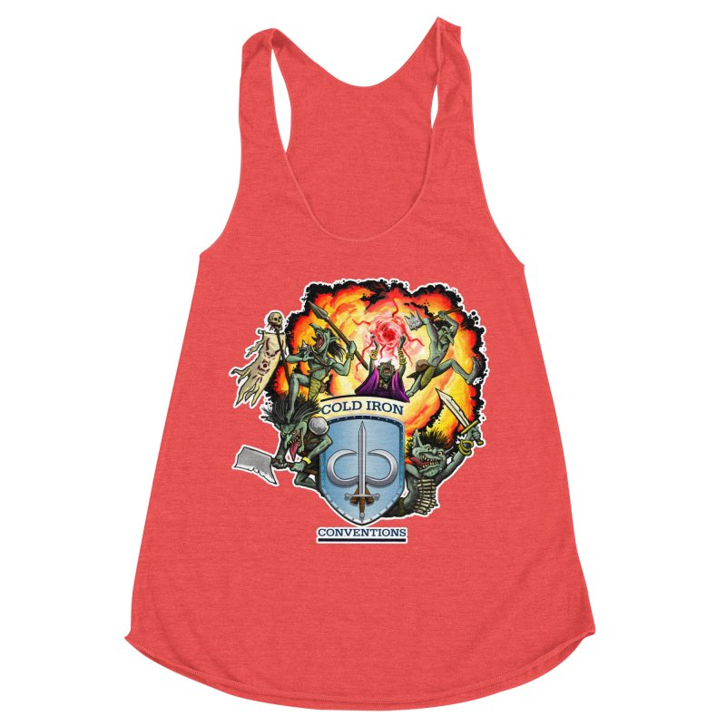 Cold Iron Goblins Women's Racerback Triblend Tank by Joe Abboreno's Artist Shop