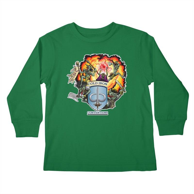 Cold Iron Goblins Kids Longsleeve T-Shirt by Joe Abboreno's Artist Shop