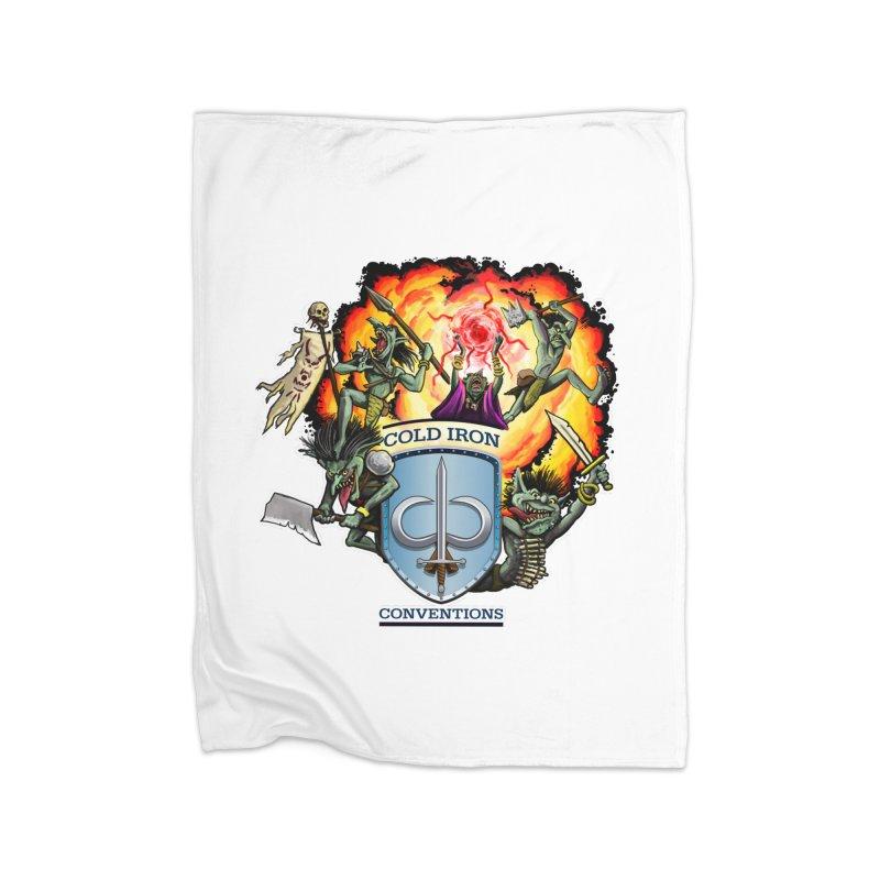Cold Iron Goblins Home Fleece Blanket Blanket by Joe Abboreno's Artist Shop