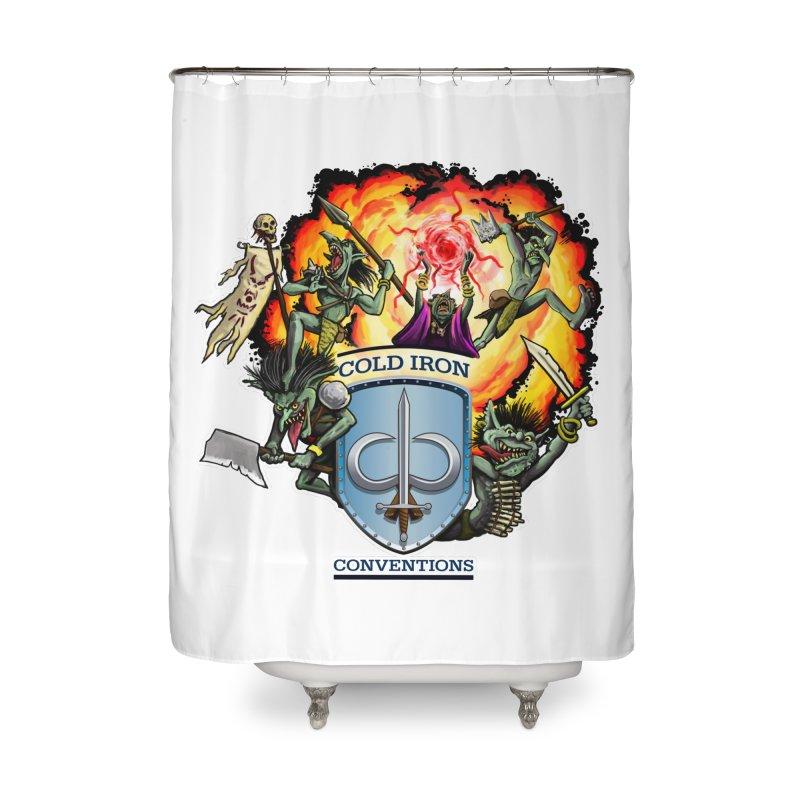 Cold Iron Goblins Home Shower Curtain by Joe Abboreno's Artist Shop