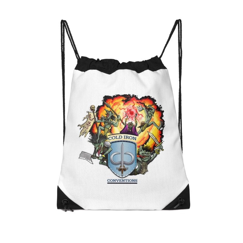 Cold Iron Goblins Accessories Drawstring Bag Bag by Joe Abboreno's Artist Shop