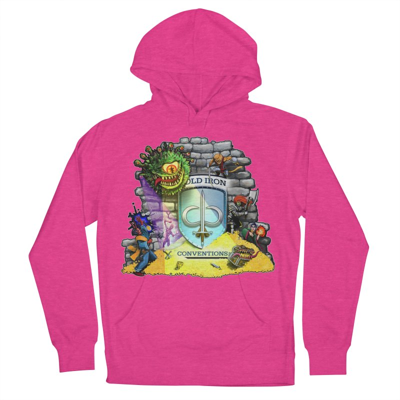 Cold Iron Beholder Men's French Terry Pullover Hoody by Joe Abboreno's Artist Shop