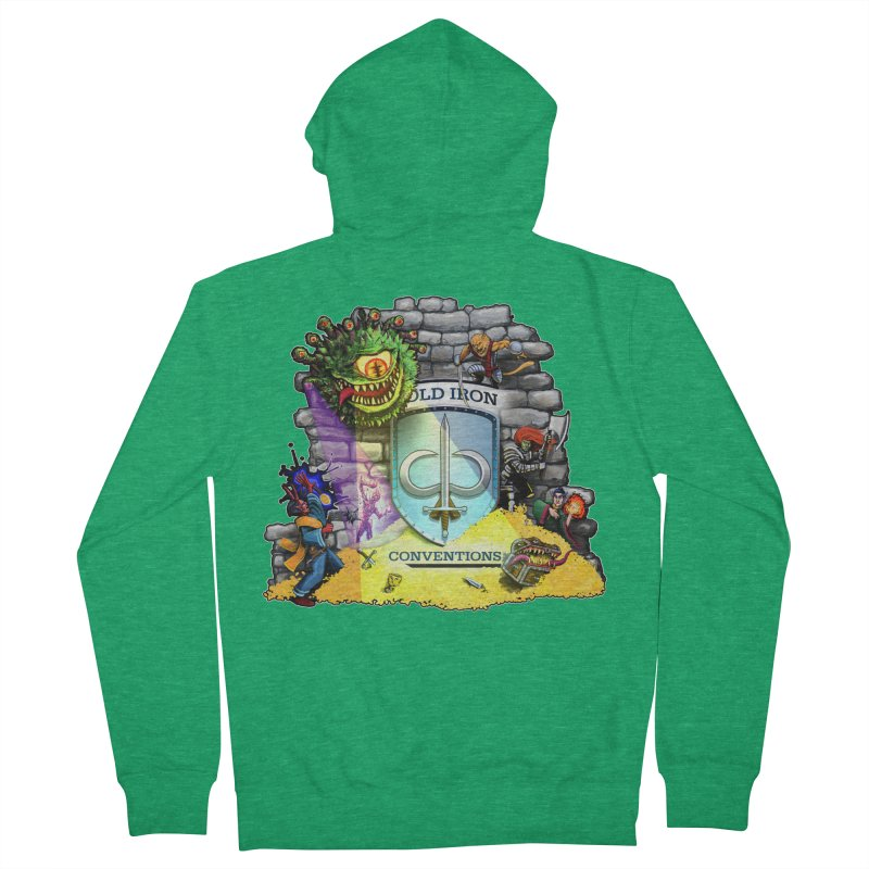 Cold Iron Beholder Men's French Terry Zip-Up Hoody by Joe Abboreno's Artist Shop