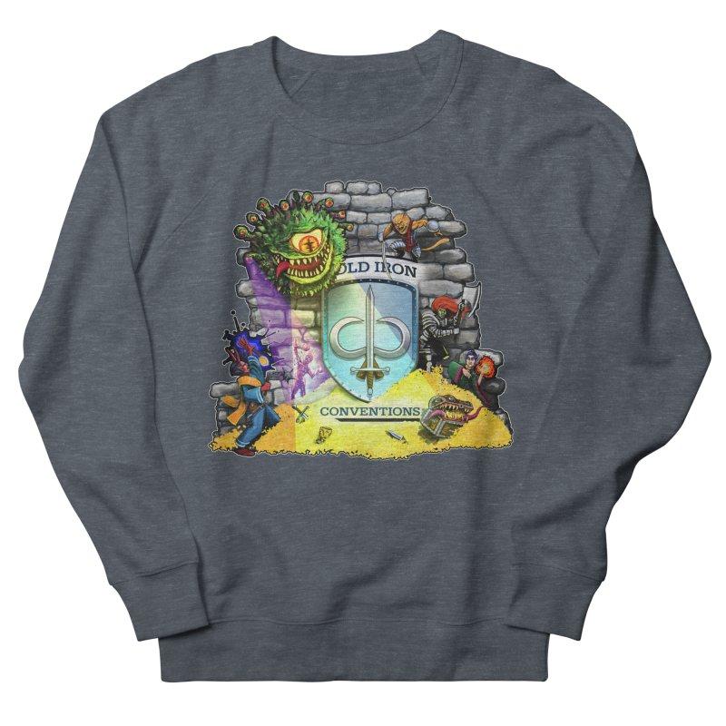 Cold Iron Beholder Men's French Terry Sweatshirt by Joe Abboreno's Artist Shop