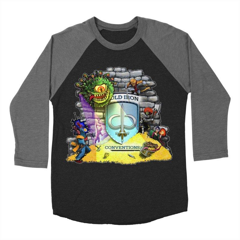 Cold Iron Beholder Men's Baseball Triblend Longsleeve T-Shirt by Joe Abboreno's Artist Shop