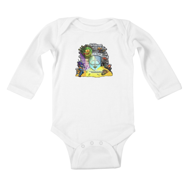 Cold Iron Beholder Kids Baby Longsleeve Bodysuit by Joe Abboreno's Artist Shop