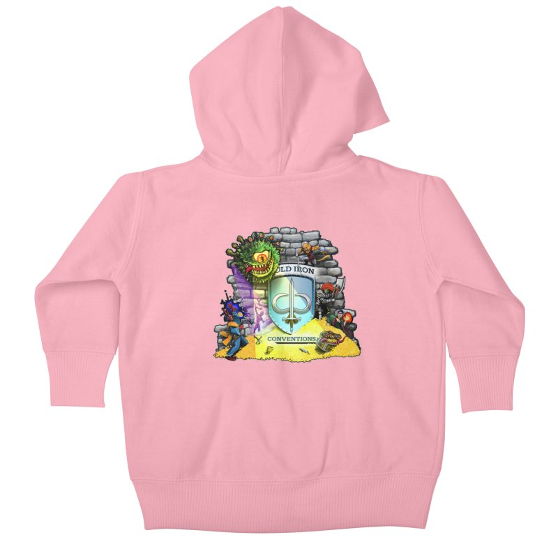 Cold Iron Beholder Kids Baby Zip-Up Hoody by Joe Abboreno's Artist Shop