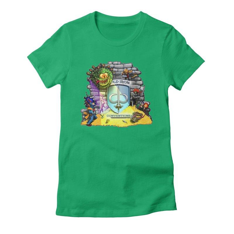 Cold Iron Beholder Women's Fitted T-Shirt by Joe Abboreno's Artist Shop