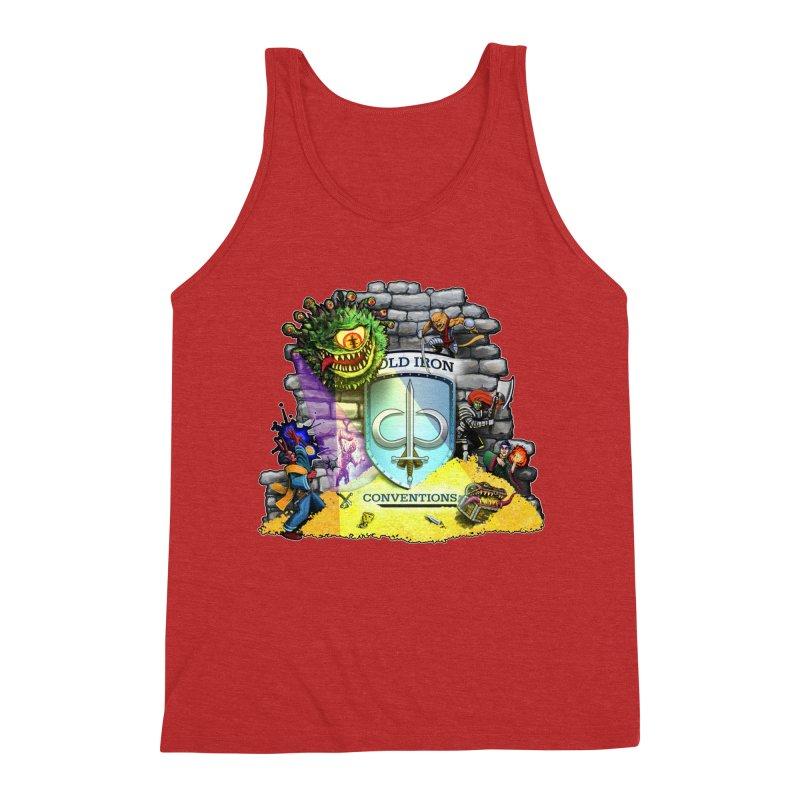 Cold Iron Beholder Men's Triblend Tank by Joe Abboreno's Artist Shop
