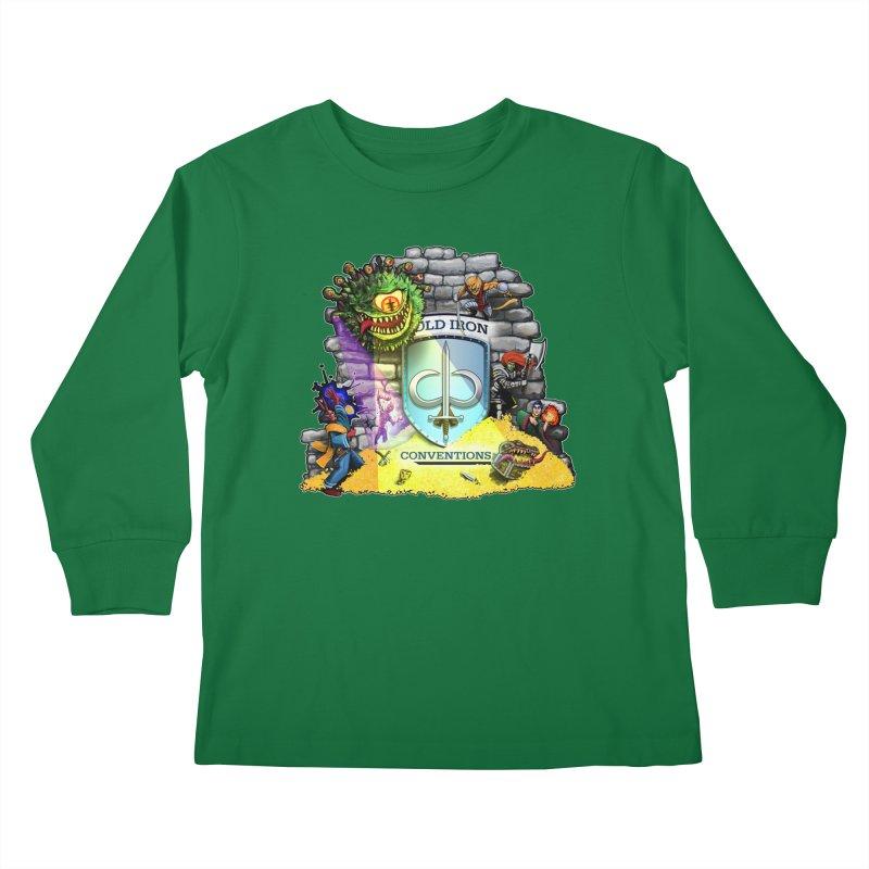 Cold Iron Beholder Kids Longsleeve T-Shirt by Joe Abboreno's Artist Shop