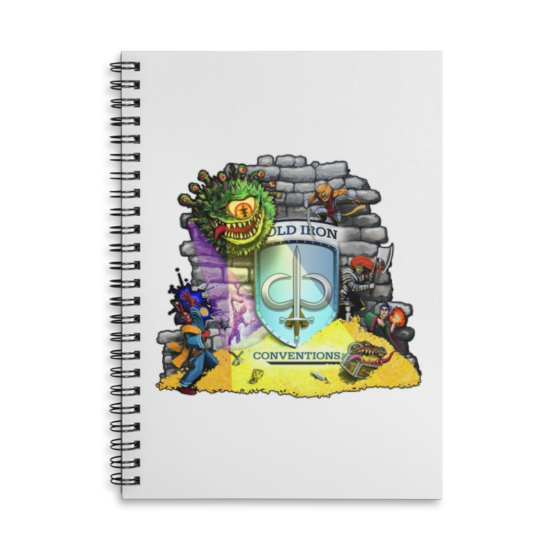 Cold Iron Beholder Accessories Lined Spiral Notebook by Joe Abboreno's Artist Shop
