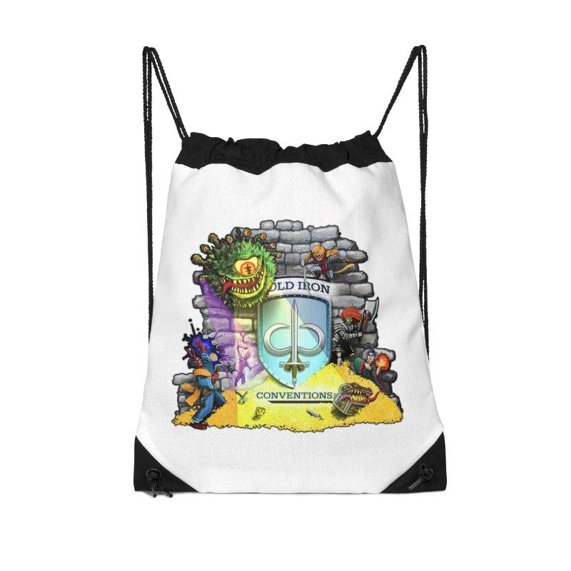 Cold Iron Beholder Accessories Drawstring Bag Bag by Joe Abboreno's Artist Shop