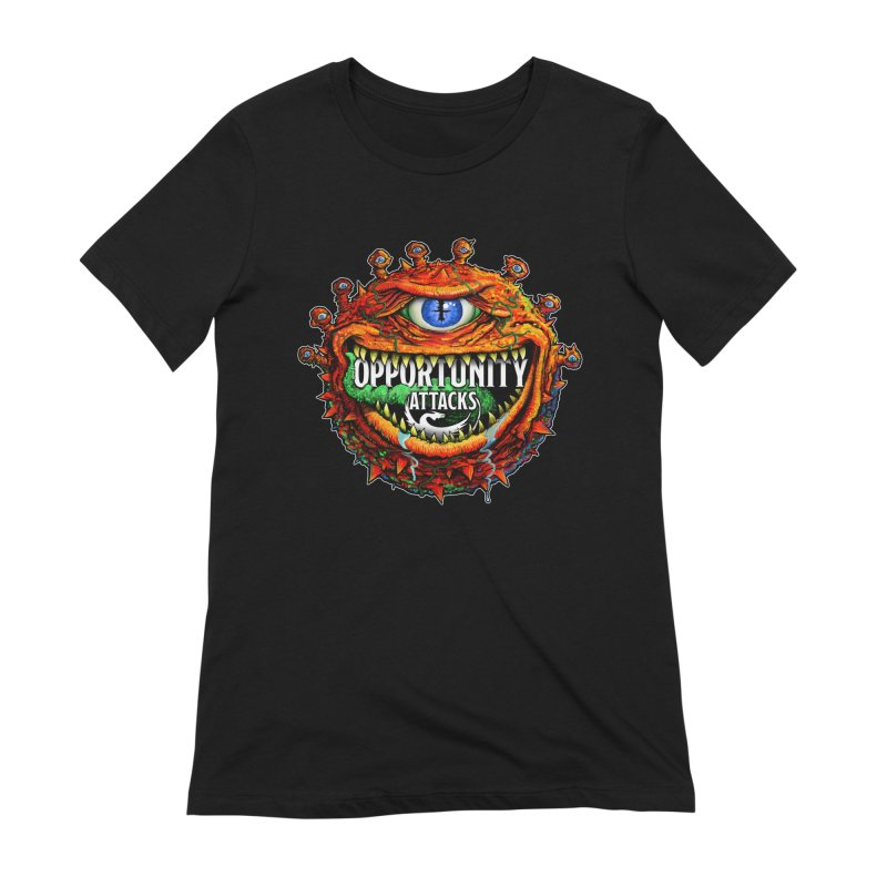Opportunity Attacks Beholder Women's Extra Soft T-Shirt by Joe Abboreno's Artist Shop