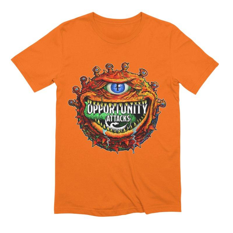 Opportunity Attacks Beholder Men's Extra Soft T-Shirt by Joe Abboreno's Artist Shop