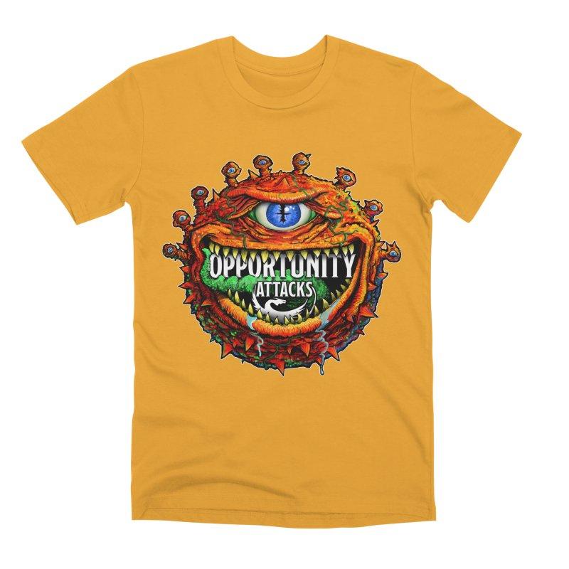 Opportunity Attacks Beholder Men's Premium T-Shirt by Joe Abboreno's Artist Shop