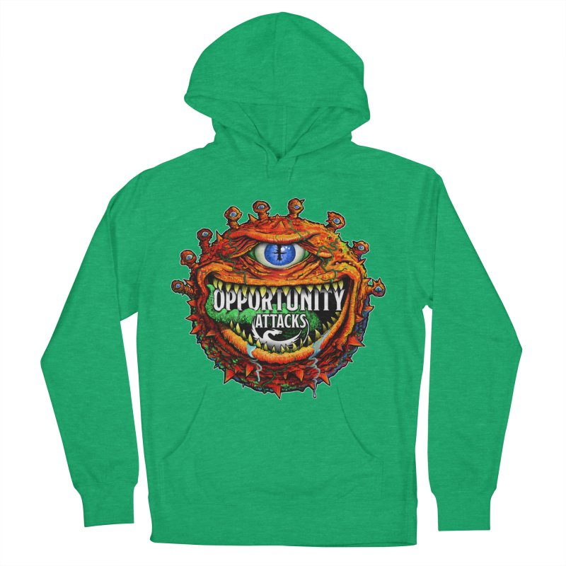 Opportunity Attacks Beholder Women's French Terry Pullover Hoody by Joe Abboreno's Artist Shop