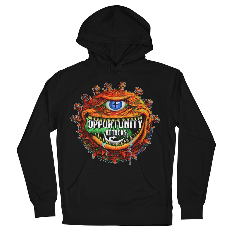 Opportunity Attacks Beholder Men's French Terry Pullover Hoody by Joe Abboreno's Artist Shop