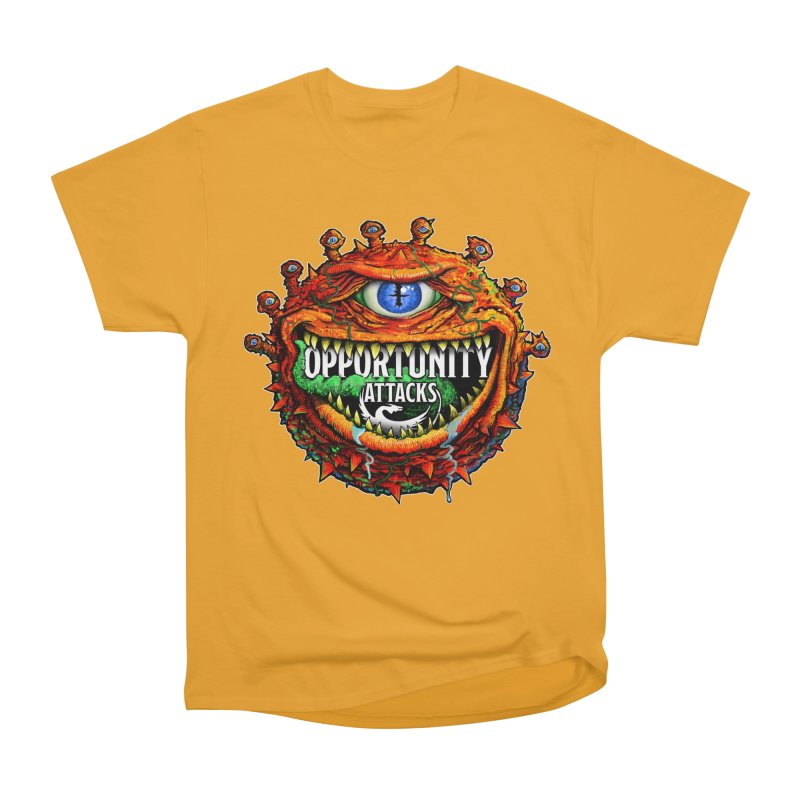 Opportunity Attacks Beholder Men's Heavyweight T-Shirt by Joe Abboreno's Artist Shop