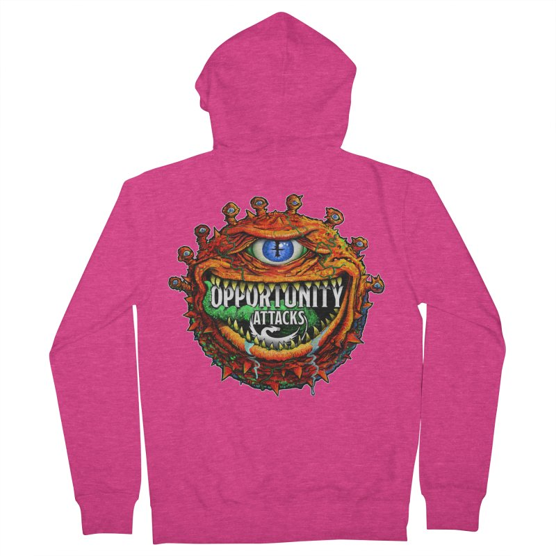 Opportunity Attacks Beholder Women's French Terry Zip-Up Hoody by Joe Abboreno's Artist Shop