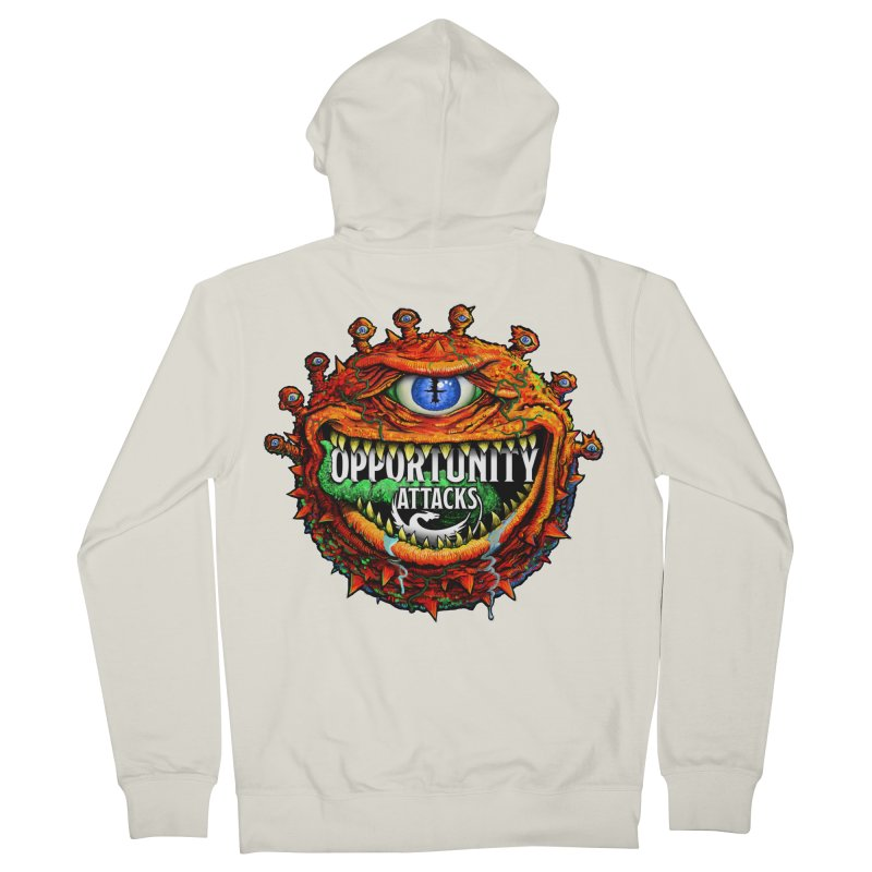 Opportunity Attacks Beholder Men's French Terry Zip-Up Hoody by Joe Abboreno's Artist Shop