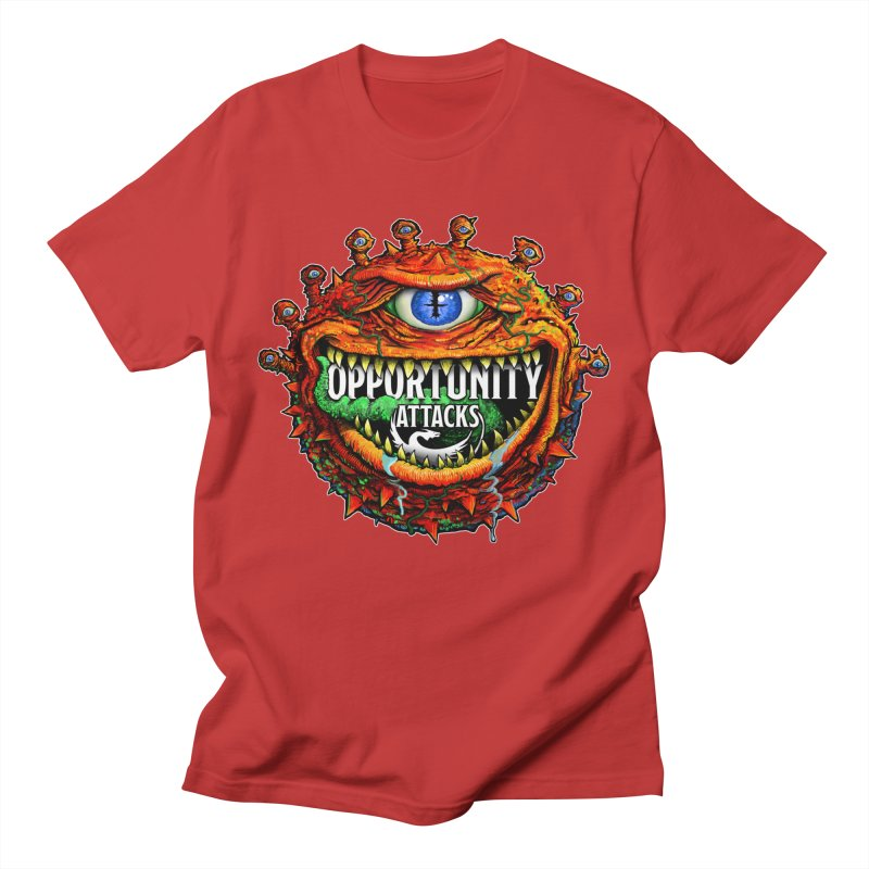 Opportunity Attacks Beholder Women's Regular Unisex T-Shirt by Joe Abboreno's Artist Shop
